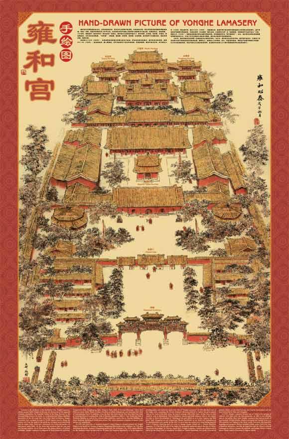 北京景点手绘图